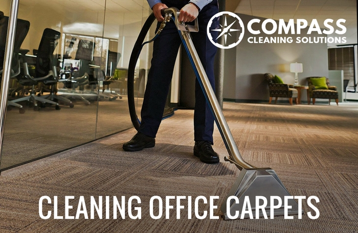 Cleaning office carpets