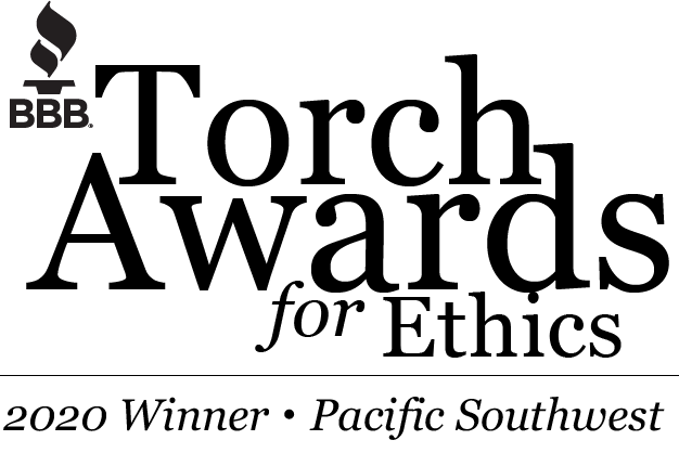 Winner 2020 BBB Torch Awards for Ethics